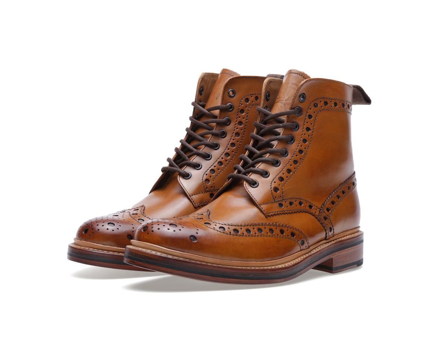 Grenson-Fred-derby-brogue-marron