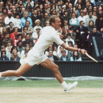 Stan Smith en la final de Wimbledon '72