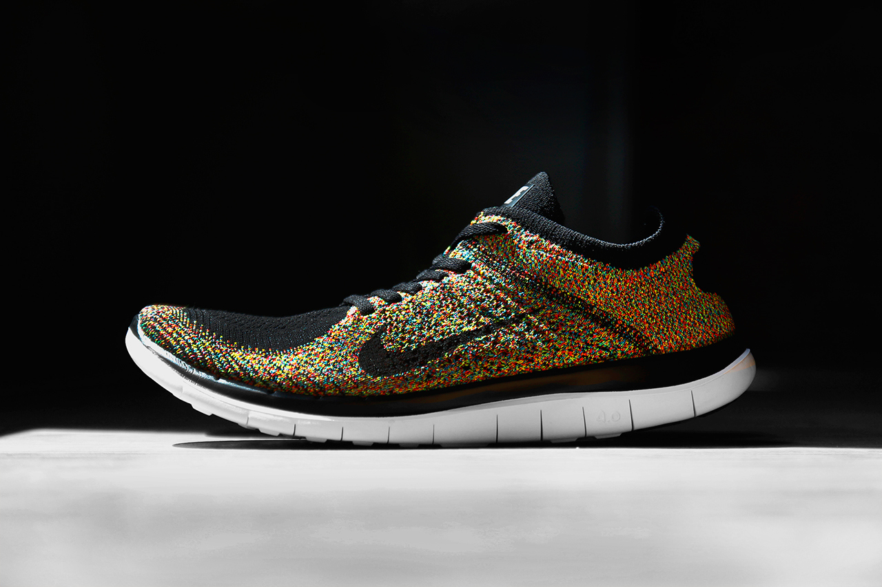 0 Nike Free Cordons Negres Flyknit 4 Multicolor HqzrgdqEw